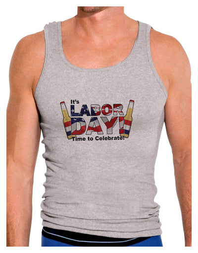 Labor Day - Celebrate Mens Ribbed Tank Top