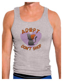 Adopt Don't Shop Cute Kitty Mens Ribbed Tank Top