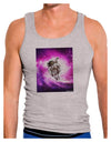 Astronaut Cat Mens Ribbed Tank Top