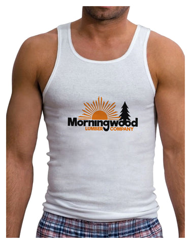 Morningwood Company Funny Mens Ribbed Tank Top by TooLoud