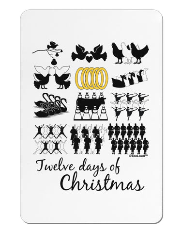 12 Days of Christmas Text Color Aluminum Magnet