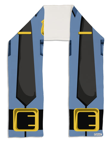 "Police Blue-Gold AOP Adult Fleece 64"" Scarf All Over Print"