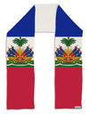 "Haiti Flag AOP Adult Fleece 64"" Scarf All Over Print"