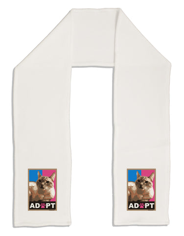 "Adopt Cute Kitty Poster Adult Fleece 64"" Scarf"