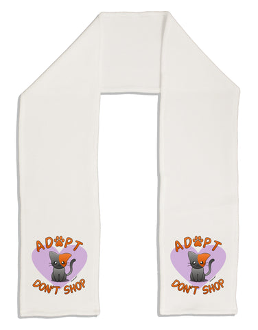 "Adopt Don't Shop Cute Kitty Adult Fleece 64"" Scarf"