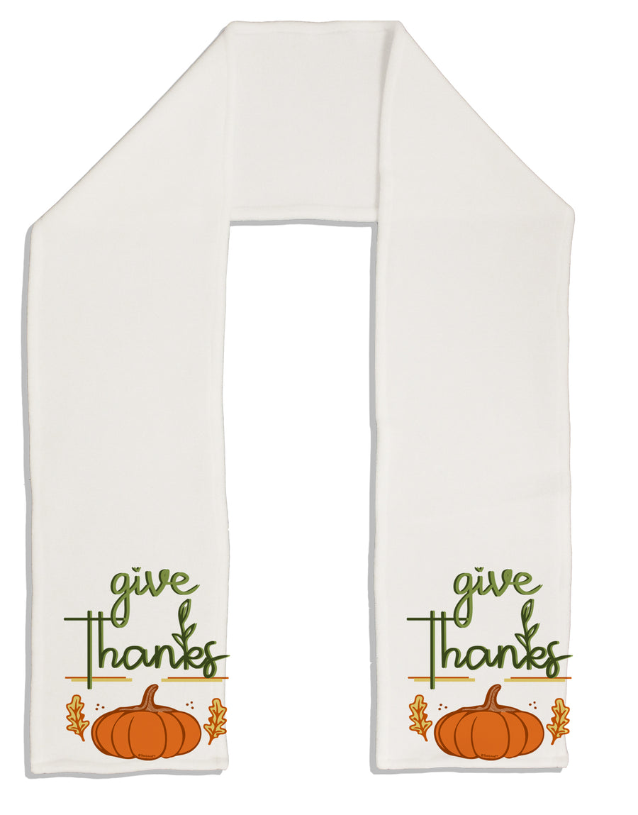 Give Thanks Adult Fleece 64 Inch Scarf Tooloud