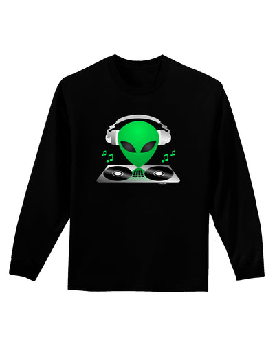 Alien DJ Adult Long Sleeve Dark T-Shirt