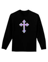 Easter Color Cross Adult Long Sleeve Dark T-Shirt