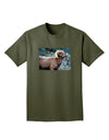 TooLoud Wide Eyed Big Horn Adult Dark T-Shirt