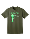 Peace Man Alien Adult Dark T-Shirt