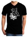 Mandala Baby Elephant Adult Dark V-Neck T-Shirt - Black - 2XL Tooloud
