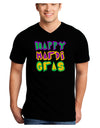 Happy Mardi Gras Text 2 Adult Dark V-Neck T-Shirt