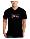 Love Of My Life - Mom Adult Dark V-Neck T-Shirt