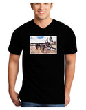 Antique Vehicle Adult Dark V-Neck T-Shirt