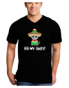 Oh My Gato - Cinco De Mayo Adult Dark V-Neck T-Shirt