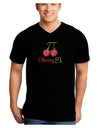 Cherry Pi Adult Dark V-Neck T-Shirt
