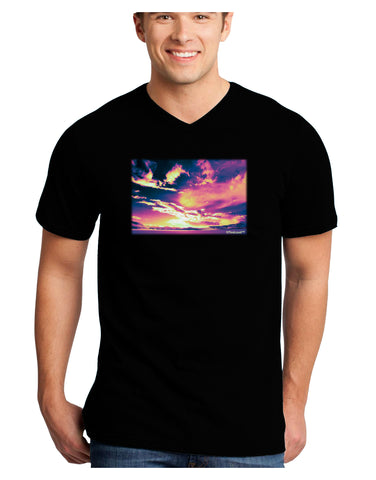 Blue Mesa Reservoir Surreal Adult Dark V-Neck T-Shirt