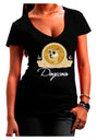 Doge Coins Dark Juniors Petite V-Neck Dark T-Shirt Black 2XL Tooloud