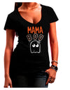 Mama Boo Ghostie Dark Juniors Petite V-Neck Dark T-Shirt Black 2XL Too