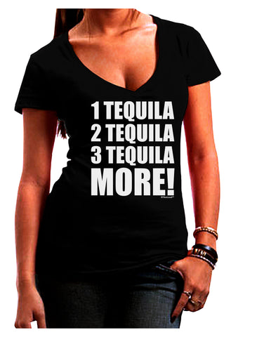 1 Tequila 2 Tequila 3 Tequila More Juniors V-Neck Dark T-Shirt by TooLoud