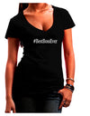 #BestBossEver Text - Boss Day Juniors V-Neck Dark T-Shirt