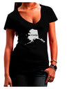 Alaska - United States Shape Juniors V-Neck Dark T-Shirt by TooLoud