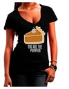 You are the PUMPKIN Dark Juniors Petite V-Neck Dark T-Shirt Black 2XL