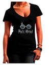 Pott Head Magic Glasses Juniors Petite V-Neck Dark T-Shirt