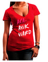 Aca-Awkward Juniors V-Neck Dark T-Shirt