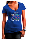 I Don't Have Kids - Dog Juniors Petite V-Neck Dark T-Shirt
