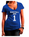 Basketball Mom Jersey Juniors V-Neck Dark T-Shirt