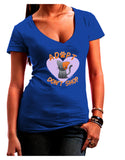 Adopt Don't Shop Cute Kitty Juniors Petite V-Neck Dark T-Shirt