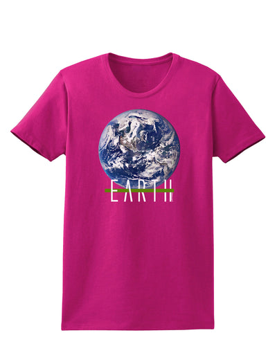 Planet Earth Text Womens Dark T-Shirt