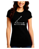 Acute Girl Juniors Petite Crew Dark T-Shirt