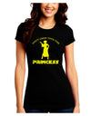 Don't Mess With The Princess Juniors Petite Crew Dark T-Shirt