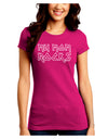 My Mom Rocks - Mother's Day Juniors Crew Dark T-Shirt