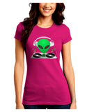 Alien DJ Juniors Petite Crew Dark T-Shirt