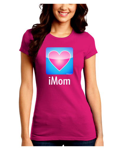 iMom - Mothers Day Juniors Crew Dark T-Shirt