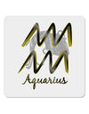 "Aquarius Symbol 4x4"" Square Sticker"