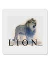 "Lion Watercolor B Text 4x4"" Square Sticker 4 Pieces"