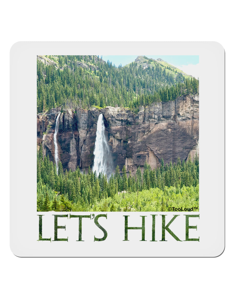 "Beautiful Cliffs - Lets Hike 4x4"" Square Sticker by TooLoud"