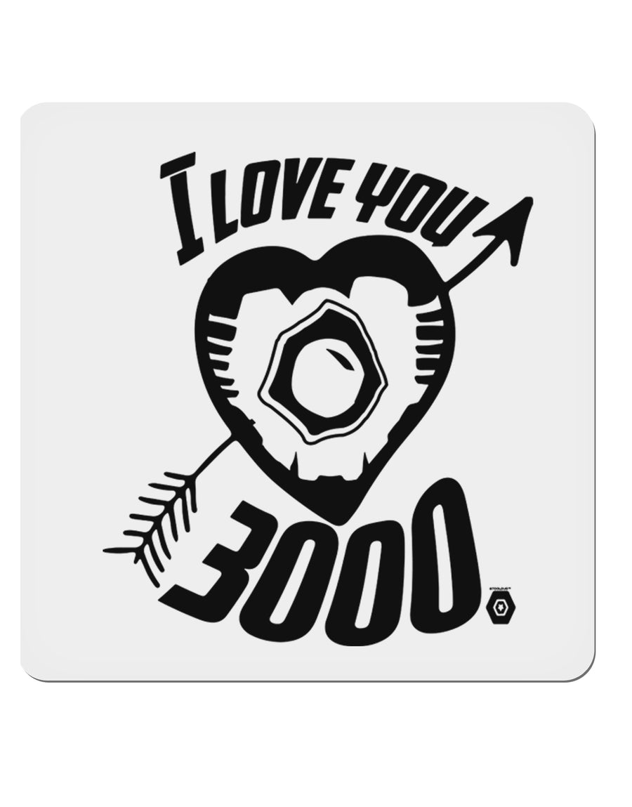 "TooLoud I Love You 3000 4x4"" Square Stickers - 4 Pieces"