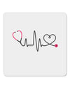 "Stethoscope Heartbeat 4x4"" Square Sticker"