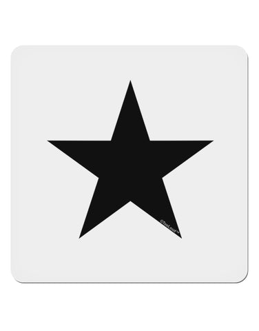 "Black Star 4x4"" Square Sticker"