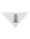 Keep Calm and Wash Your Hands Printed White Dog Bandana 26 Inch Toolou