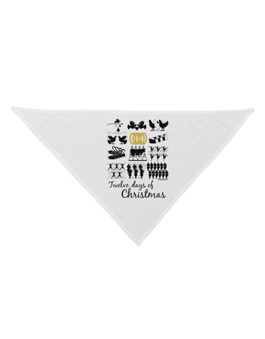 12 Days of Christmas Text Color Dog Bandana 26