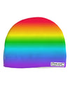 Horizontal Rainbow Gradient Child Fleece Beanie Cap Hat All Over Print by