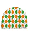 Irish Colors Argyle Pattern Child Fleece Beanie Cap Hat All Over Print