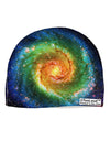Rainbow Tie Dye Galaxy Adult Fleece Beanie Cap Hat All Over Print