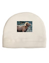 TooLoud Wide Eyed Big Horn Adult Fleece Beanie Cap Hat